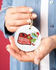 Grinch Hand Christmas Ornament Circle ornament - single (porcelain) aos-circle-ornament-single-porcelain-lifestyles-01