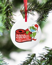 Grinch Hand Christmas Ornament Circle ornament - single (porcelain) aos-circle-ornament-single-porcelain-lifestyles-07