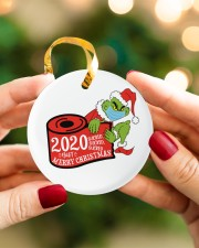 Grinch Hand Christmas Ornament Circle ornament - single (porcelain) aos-circle-ornament-single-porcelain-lifestyles-08