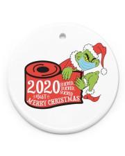 Grinch Hand Christmas Ornament Circle ornament - single (porcelain) front