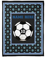 "Personalized Soccer Large Fleece Blanket - 60"" x 80"" thumbnail"