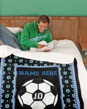 "Personalized Soccer Large Sherpa Fleece Blanket - 60"" x 80"" aos-sherpa-fleece-blanket-60x80-lifestyle-front-07"