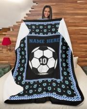 "Personalized Soccer Large Sherpa Fleece Blanket - 60"" x 80"" aos-sherpa-fleece-blanket-60x80-lifestyle-front-11"
