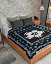 "Personalized Soccer Large Sherpa Fleece Blanket - 60"" x 80"" aos-sherpa-fleece-blanket-lifestyle-front-04"