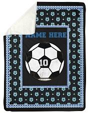 "Personalized Soccer Large Sherpa Fleece Blanket - 60"" x 80"" front"