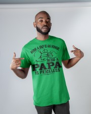 Being papa is priceless  Classic T-Shirt apparel-classic-tshirt-lifestyle-front-32