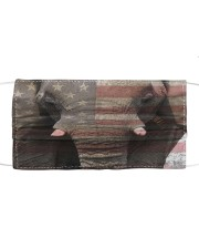 elephant american flag mask Cloth face mask front