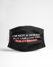 I'm not a sheep But I am lowon Toilet paper Cloth face mask aos-face-mask-lifestyle-22