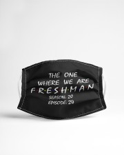 The One Where We Are Freshman Season Cloth face mask aos-face-mask-lifestyle-22