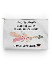 To my DAUGHTER class of 2020 strong mug pouch tee Accessory Pouch - Standard back