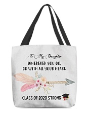 To my DAUGHTER class of 2020 strong mug pouch tee All-over Tote thumbnail