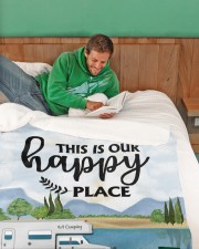 """Personalized Camping Blanket 8 Large Sherpa Fleece Blanket - 60"""" x 80"""" aos-sherpa-fleece-blanket-60x80-lifestyle-front-07"""