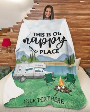 """Personalized Camping Blanket 8 Large Sherpa Fleece Blanket - 60"""" x 80"""" aos-sherpa-fleece-blanket-60x80-lifestyle-front-11"""