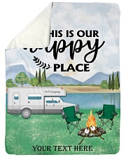 """Personalized Camping Blanket 8 Large Sherpa Fleece Blanket - 60"""" x 80"""" front"""