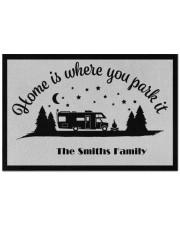 """Custom name doormat - Home is where you park it 06 Doormat 22.5"""" x 15""""  front"""