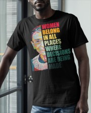 Women Belong In All Places where making decisions Classic T-Shirt apparel-classic-tshirt-lifestyle-front-39