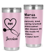 Personalized Nurse Tumbler -custom name and title 20oz Tumbler front