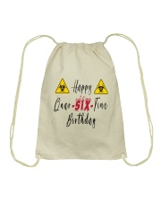 Happy Quar-Six-Tine Birthday Drawstring Bag thumbnail