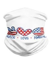 Peace love america Neck Gaiter tile
