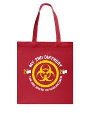 My 2nd Birthday-Quarantined Tote Bag tile