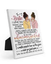To my bestie the one who needs you till the end Easel-Back Gallery Wrapped Canvas tile