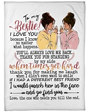 To my bestie the one who needs you till the end Fleece Blanket tile