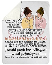 To my bestie the one who needs you till the end Sherpa Fleece Blanket tile