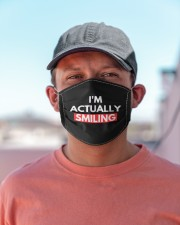 i'm actually smiling Cloth face mask aos-face-mask-lifestyle-06