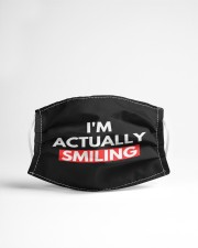 i'm actually smiling Cloth face mask aos-face-mask-lifestyle-22