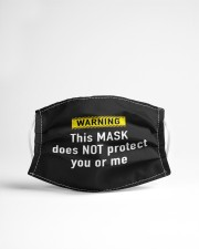 WARNING this mask does not protect you or me Cloth face mask aos-face-mask-lifestyle-22