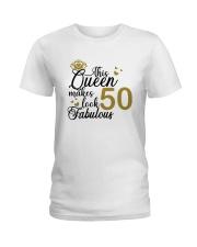 HQH994 50th Birthday Fabulous Ladies T-Shirt front