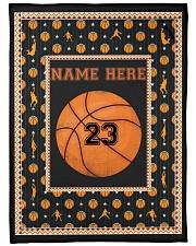 Personalized Basketball Fleece Blanket tile