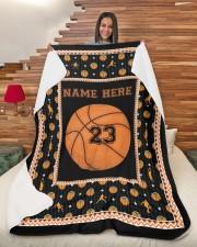 """Personalized Basketball Large Sherpa Fleece Blanket - 60"""" x 80"""" aos-sherpa-fleece-blanket-60x80-lifestyle-front-11"""