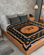 """Personalized Basketball Large Sherpa Fleece Blanket - 60"""" x 80"""" aos-sherpa-fleece-blanket-lifestyle-front-04"""