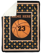 """Personalized Basketball Large Sherpa Fleece Blanket - 60"""" x 80"""" front"""