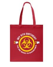 My 6Th Birthday-Quarantined Tote Bag tile
