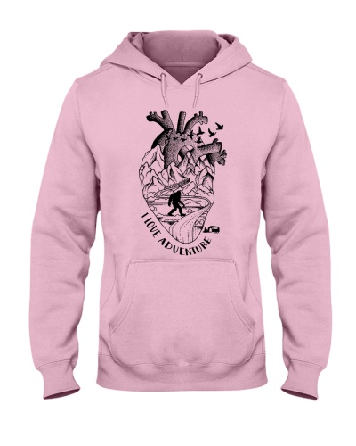 Anatomical heart full of adventure camping tshirt