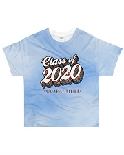 Class of 2020 quarantined tie dye blue sky All-over T-Shirt front