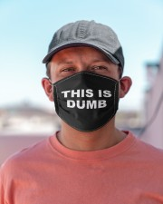 This Is Dumb Cloth face mask aos-face-mask-lifestyle-06