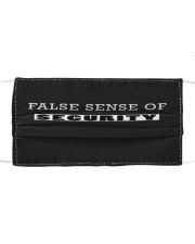 false sense of security  Cloth face mask front