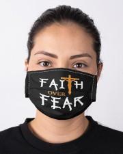 faith over fear Cloth face mask aos-face-mask-lifestyle-01