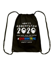 Mein 73 Geburtstag Drawstring Bag thumbnail