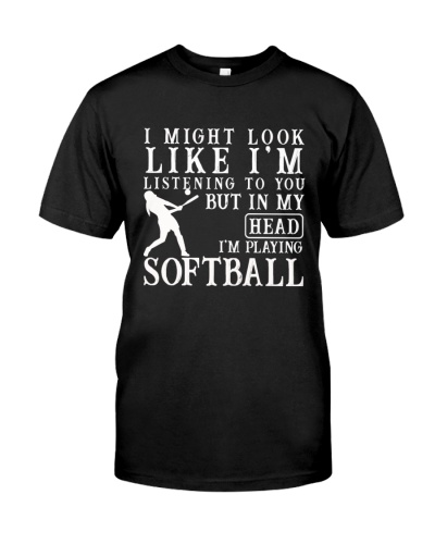 Head-I'm playing softball