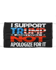 I SUPPORT TRUMP Cloth face mask front