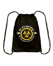 My 8Th Birthday-Quarantined Drawstring Bag thumbnail