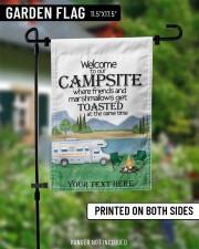 """Personalized Camping  Garden Flag 7 11.5""""x17.5"""" Garden Flag aos-garden-flag-11-5-x-17-5-lifestyle-front-13"""