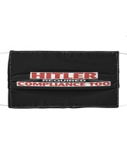 Hiler Required Compliance Too Cloth face mask front