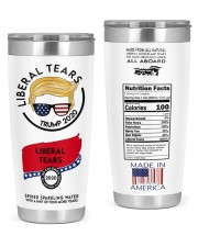 trump 2020 liberal tears all board nutrition facts 20oz Tumbler front