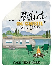 """Personalized Camping Blanket 12 Large Sherpa Fleece Blanket - 60"""" x 80"""" front"""