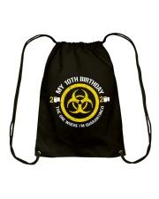 My 10Th Birthday-Quarantined Drawstring Bag thumbnail